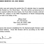 Purse Bid Ordered for Fernando Montiel- Eric Morel