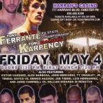 Dhafir Smith vs. Tony Ferrante Headlines Harrah's Chester: Victor Vazquez Returns on under-card