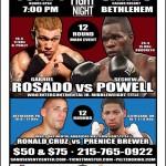 NBC Fight Night 3 in Bethlehem: Rosado vs. Powell and Cruz vs. Brewer