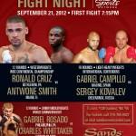 Rosado-Whitaker Eliminator added to next Fight Night