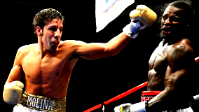 John Molina, Jr.(L) fights on June 7th on ESPN's Friday Night Fights.