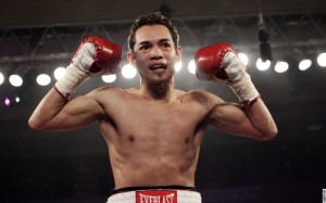 nonito Donaire celebrating