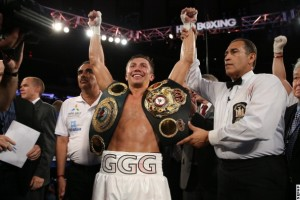 gennady golovkin celebrating geale