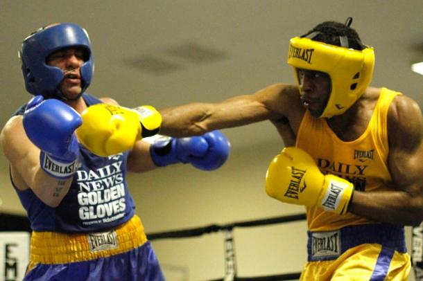 Earl Newman (r) in the NY Golden Gloves