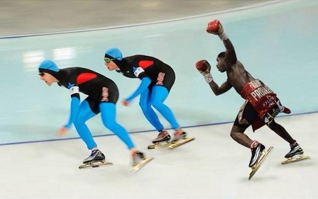 meme broner speed skating
