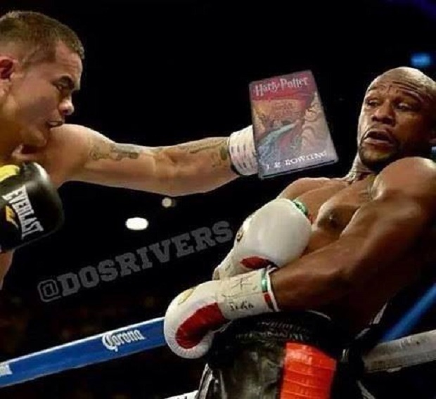 meme mayweather dodging book