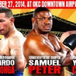 "Mayorga, Peter, and ""Yory Boy"" Headline 9/27 OKC Card"