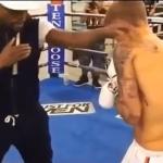 Video: Floyd Mayweather Training Justin Bieber