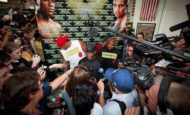 mayweather and reporters