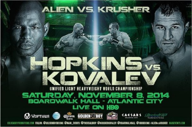 kovalev-hopkins tv fight poster