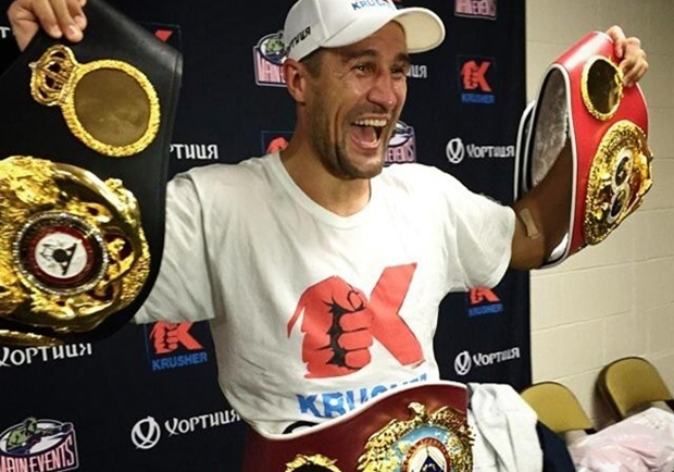 sergey kovalev with belts