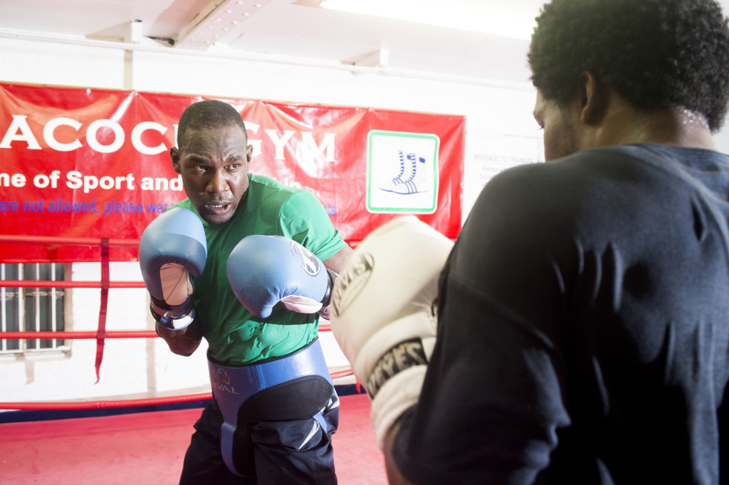 Exclusive - Ovill McKenzie trains at Peacock Gym, London, England, 26.11.14