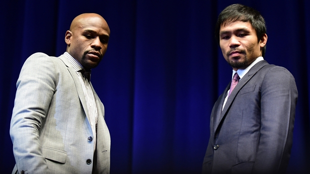 mayweather-pacquiao looking down