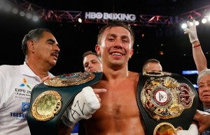 golovkin with HBO logo above