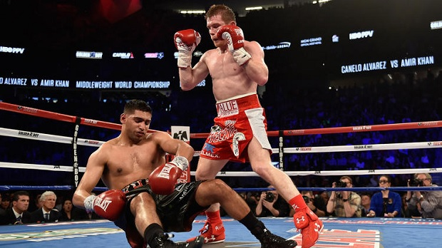 Alvarez knocks out Khan in their high-profile fight